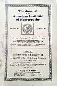 The Journal of the American Institute of Homeopathy, october 1928